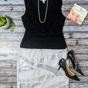 WHBM Sequined Pencil Skirt